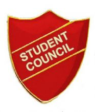 Student Council Shield Badge Red